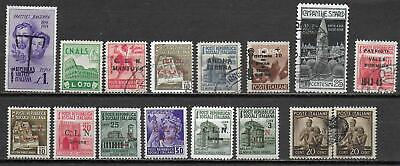 Italy stamps Collection of 16 LOCAL stamps CANC/UNG VF