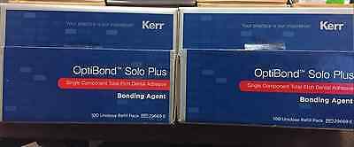 Optibond Solo Plus 100 Pack Unidose By Kerr 2 Boxes