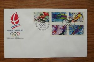 FS: Albertville 1992 (Olympics) 1st Day Cover Commemorative Stam London Ontario image 1