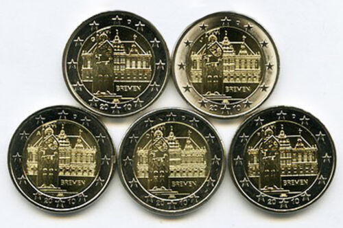 Comm - 2 Euro Germany 2010 Bremen City Hall (Set of 5 min0