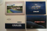 Manuel Chevrolet Cavalier, Cobalt Géo Métro