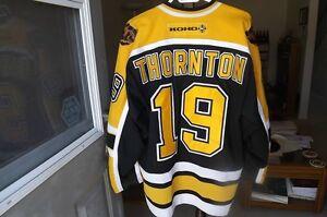 FS: Joe Thornton (Boston Bruins) CCM / Koho 3rd Jersey London Ontario image 2