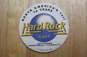 "FS: 1994 Hard Rock Cafe ""SKYDOME"" Coaster (never used) London Ontario image 1"