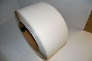 Rouleau de courroies de polypropylène blanc ½''