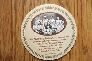 """FS: 1999 Sleeman Brewery (4"""" round) Promotional Beer Coasters"""