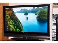 42-inch flat screen plasma television / TV, Panasonic + Remote Control + DVD player