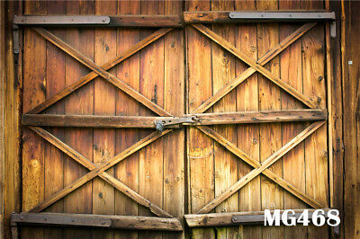 7X5FT Western BArn Door Polyester backdrop background Washable Photo Props MG468](Western Photo Backdrops)