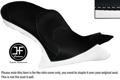WHITE AND BLACK VINYL CUSTOM FITS <em>VICTORY</em> CROSS COUNTRY DUAL SEAT COVE