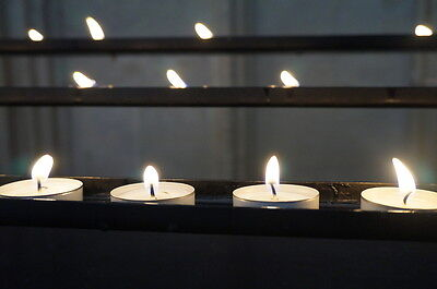 Candle light creates a soothing, romantic setting