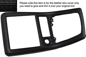 BLACK LEATHER MANUAL GEAR SURROUND SKIN COVER FITS NISSAN SKYLINE R32 89-94