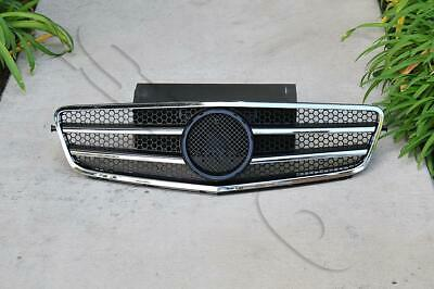 Black ABS Front Grille Grill Fits 2007-2014 Mercedes W204 C-Class C300 C350 C250