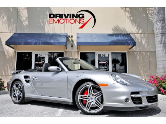 2008 PORSCHE 911 TURBO CABRIOLET! GT SILVER/BLACK! RED CALIPERS! SPORT CHRONO!