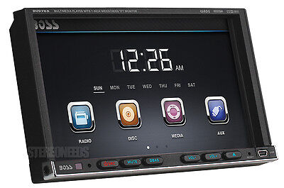 """BOSS BV9755 2 DOUBLE DIN CAR 7"""" TOUCHSCREEN MONITOR DVD CD PLAYER AUX USB REMOTE"""