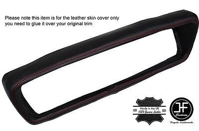RED STITCH TOP DASH DASHBOARD LEATHER SKIN COVER FITS FORD CAPRI MK1