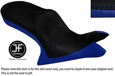 ROYAL BLUE AND BLACK VINYL CUSTOM FOR <em>VICTORY</em> CROSS COUNTRY DUAL SEAT