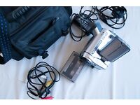 SONY Handycam camcorder and case.