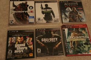 PS3 games GRAND THIEF AUTO IV and ASSASSIN'S CREED REVELATIONS