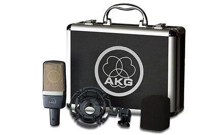 Akg C214 Studio Condensor Mic W Mount  Case C 214 Factory Sealed Retail Box New
