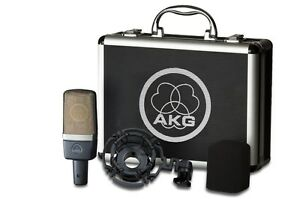 AKG C214 Studio Condensor Mic w/mount, case C-214 Factory Sealed Retail Box NEW