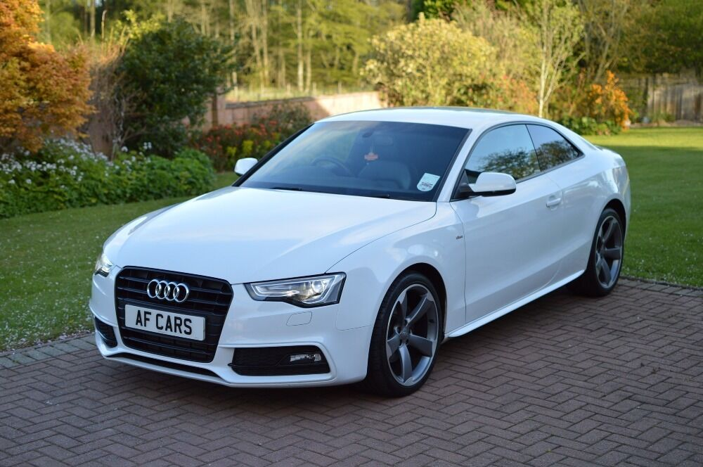 AUDI A TDI S LINE BLACK EDITION White In Laurencekirk - White audi a5