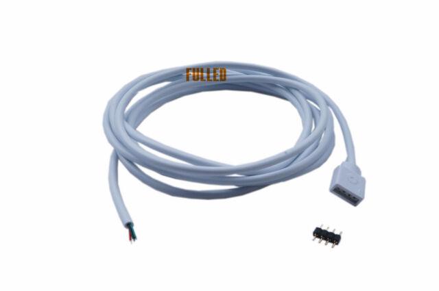 led 2m kabel verbinder 4 pin stecker f led rgb leiste strip streifen rgbc20 ebay. Black Bedroom Furniture Sets. Home Design Ideas