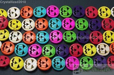 ise Gemstone Halloween Jack O Lantern 15mm Spacer Beads 15