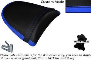 L BLUE & BLACK CUSTOM FITS KAWASAKI Z750 Z1000 04-06 DESIGN 2 REAR SEAT COVER