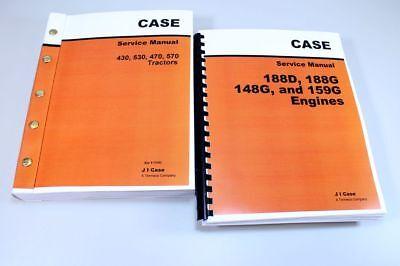 Case 430 530 470 570 Tractor Service Set 188d 188g 148g 159g Engine Manual Shop