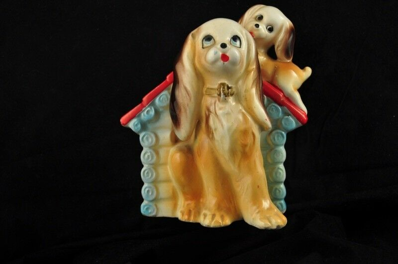 Vintage Japan Dog and Puppy House Bank
