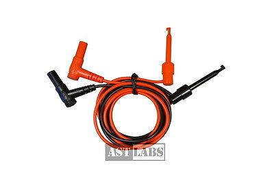 Test Lead Mini Hook To Banana Plug Male Right Angle 36 995-004