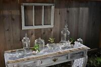 Rustic vintage wedding decor rentals