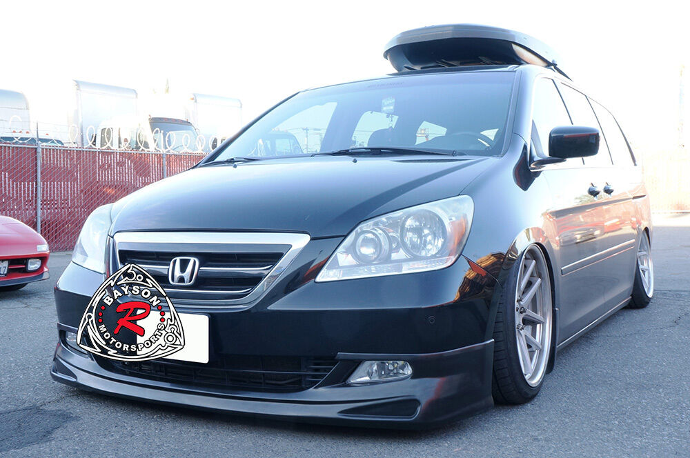 For 05-07 Honda Odyssey VIP Van MDA Front Bumper Add-on Lip Body Kit Urethane