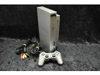 Playstation 2 silver with controller and cables