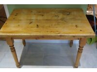 Solid Pine Table with detachable legs