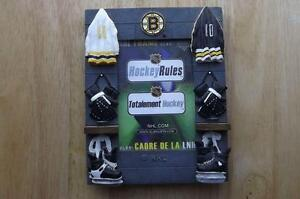 "FS: Boston Bruin ""Hockey Rules"" Picture Frame London Ontario image 1"