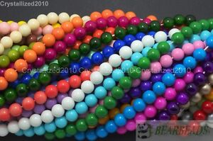 Czech-Opaque-Coated-Glass-Pearl-Round-Beads-16-4mm-6mm-8mm-10mm-12mm-14mm-16mm
