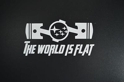 Subaru the world is flat STI impreza WRX BRZ window sticker vinyl decal #301