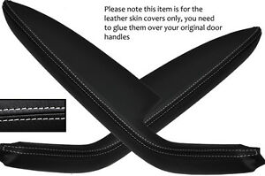 white stitch 2x rear door handle armrest covers fits audi a3 8p rs3 s3 04 12 5dr ebay. Black Bedroom Furniture Sets. Home Design Ideas