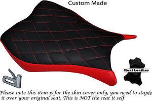DIAMOND STITCH BRIGHT RED CUSTOM FITS HONDA CBR 1000 RR 13-15 FRONT SEAT COVER