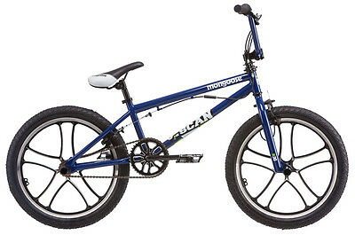 20 in Mongoose Boys BMX Freestyle Bike Scan R30 Blue