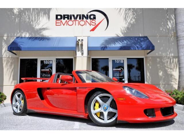 2004 PORSCHE CARRERA GT! GUARDS RED/ASCOT BROWN! YELLOW CALIPERS! CARBON! RARE!!