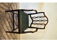 Hardwood antique dining room style chair.