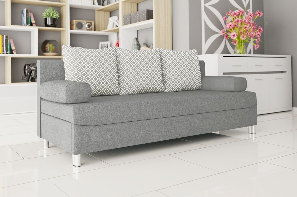 Special Offer Grey Sofa Bed Dover Storage Container New