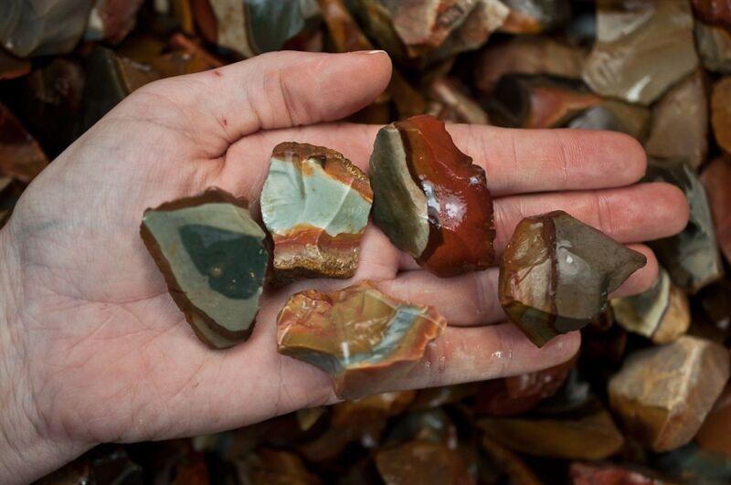 1 Pound of Natural Desert Jasper Rough - Cabbing, Tumble Rocks, Reiki