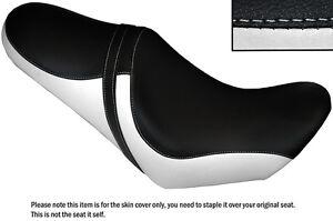 WHITE & BLACK CUSTOM FITS MOTO GUZZI BELLAGIO 940 07-12 COMFORT DUAL SEAT COVER