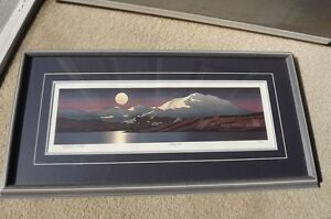 """FS: Byron Birdsall """"McKinley Moon"""" Framed, Matted and Numbered E"""