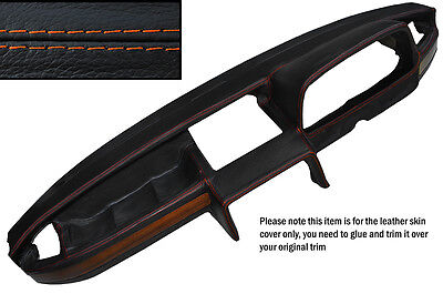 ORANGE st DASHBOARD LEATHER SKIN COVER FITS BMW E12 72-81 theking.34000