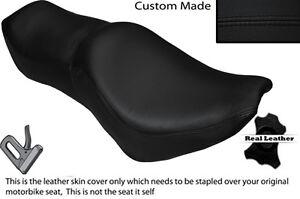 BLACK STITCH CUSTOM FITS YAMAHA VIRAGO XV 700 1000 LEATHER SEAT COVER