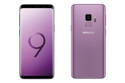 Samsung Galaxy S9 SM-G960U- 64GB Purple Factory Unlocked Very Good Light Shadow