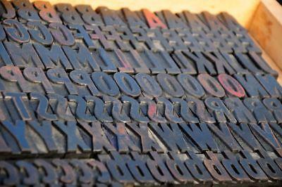 Letterpress Wood Printing Blocks 382pcs 1.42 Tall Wooden Type Woodtype Alphabet